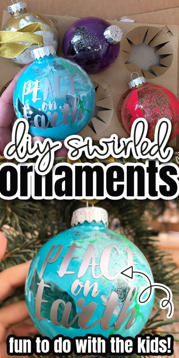 How to make glass swirled ornaments. Great DIY kids Christmas craft