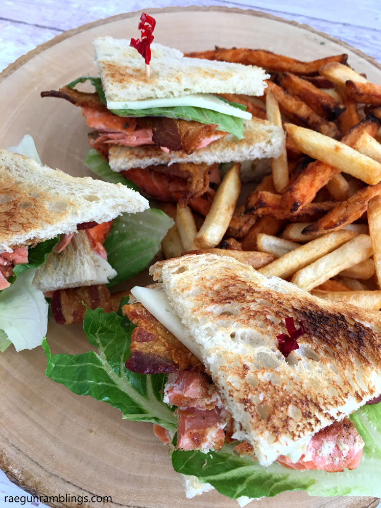 Salmon Club Sandwich recipe