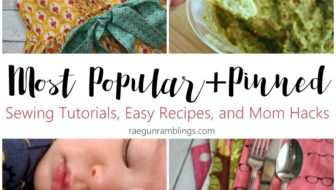 Most Popular Sewing Tutorials and Easy Recipes