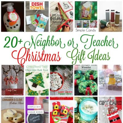 20+ Neighbor and Teacher Gift Ideas and Block Party