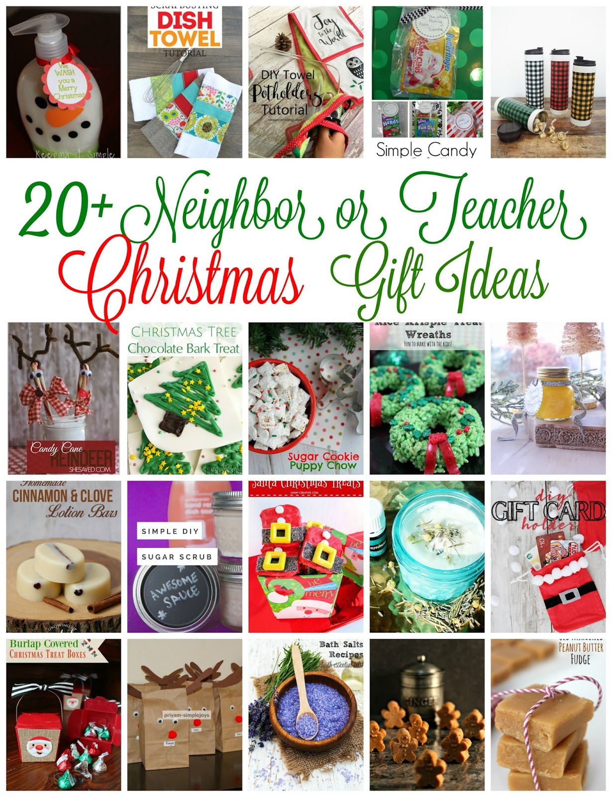neighbor and teacher gift ideas DIY tutorials