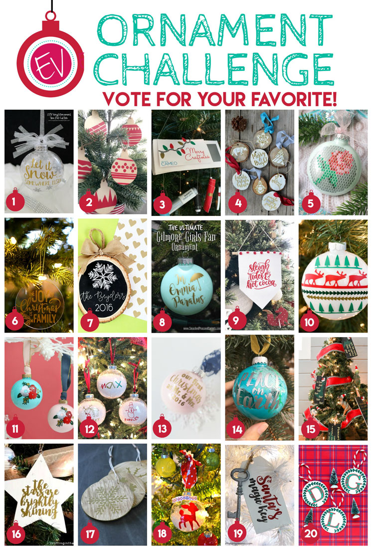 Lots of easy DIY christmas ornament tutorials