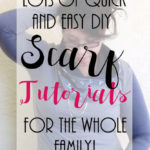 DIY Scarf tutorials for the whole family. Lots free sewing patterns for cowls, scars and other neck warmers.