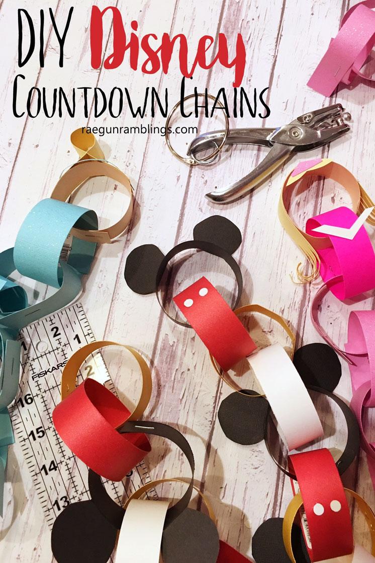DIY Disney Countdown Chains crafting tutorials