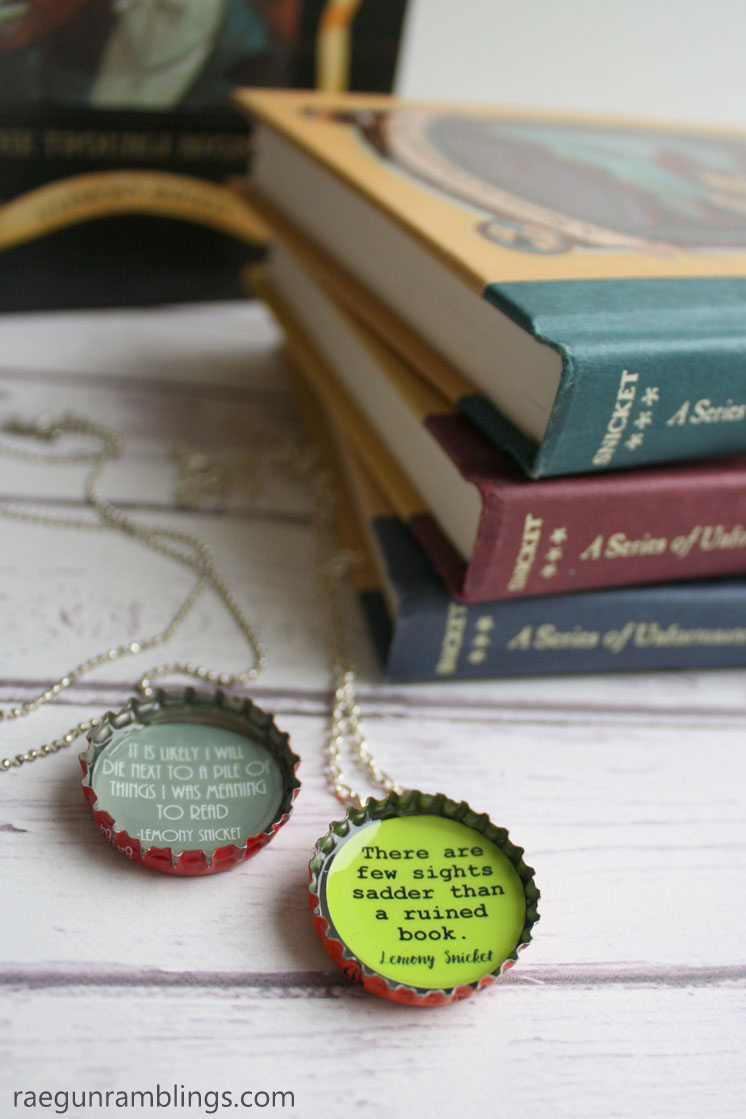 how to make lemony snicket quote necklaces crafting tutorial
