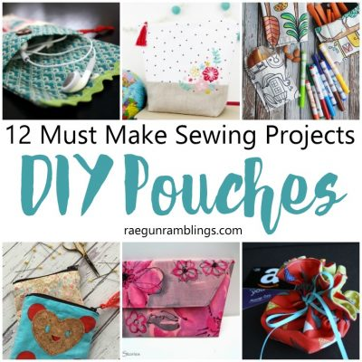 12 Must Make DIY Pouch Tutorials and Block Party