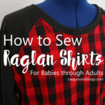 How to sew a raglan shirt tutorial and patterns FB