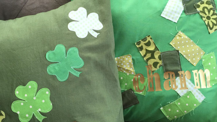 DIY Scrappy St. Patrick's Day Pillowcases