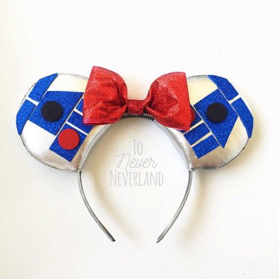 Adorable R2D2 Mickey Mouse Ears. Star Wars