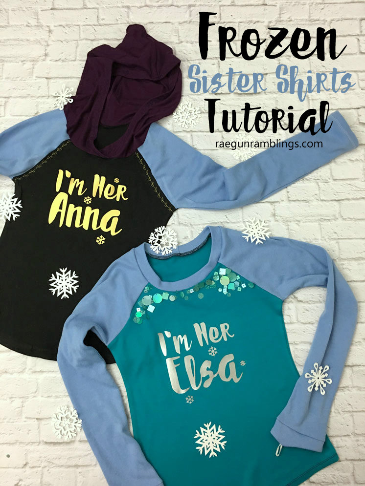 DIY Frozen Sister Elsa and Anna shirt tutorial