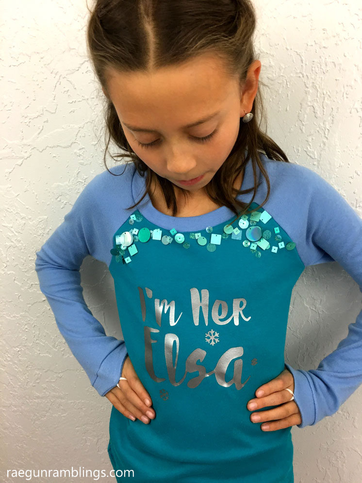 Frozen Elsa Shirt Tutorial