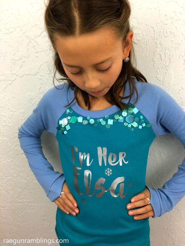 Diy Elsa And Anna Sister Shirts With Cricut Rae Gun