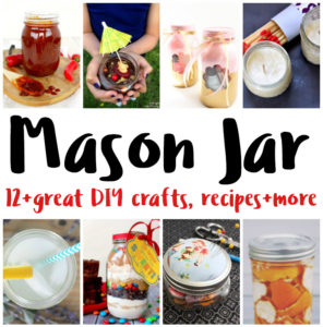 Over 12 Mason Jar Crafts Recipes DIY projects I want to make soon
