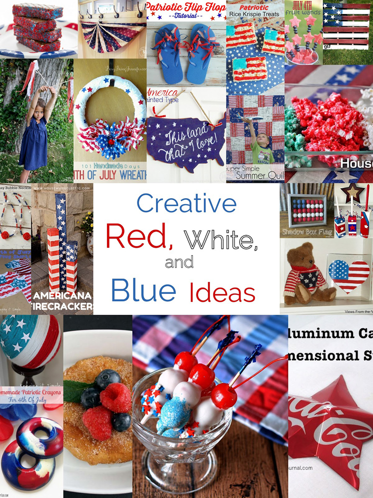 Love these red white blue crafts recipes perfect for Memorial Day and fourth of july