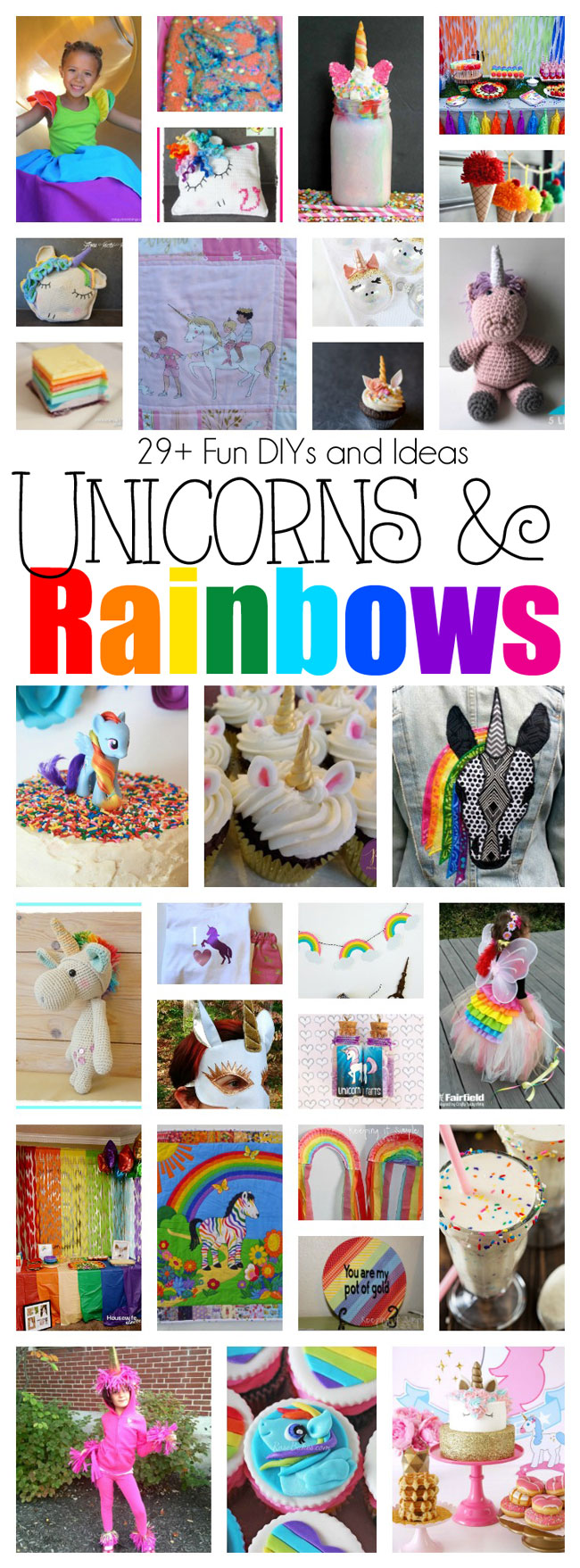DIY Unicorns Rainbows Crafts and Party ideas