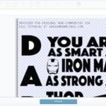 DIY daddy superhero shirt