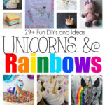 DIY unicorns and rainbow crafts