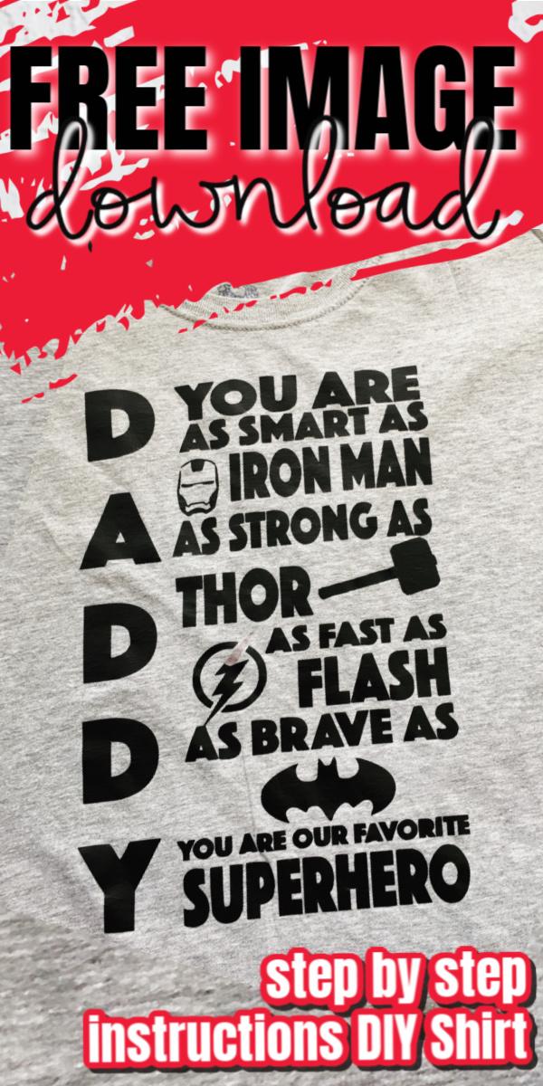 DIY Daddy Superhero shirt tutorial and printable via @raegun