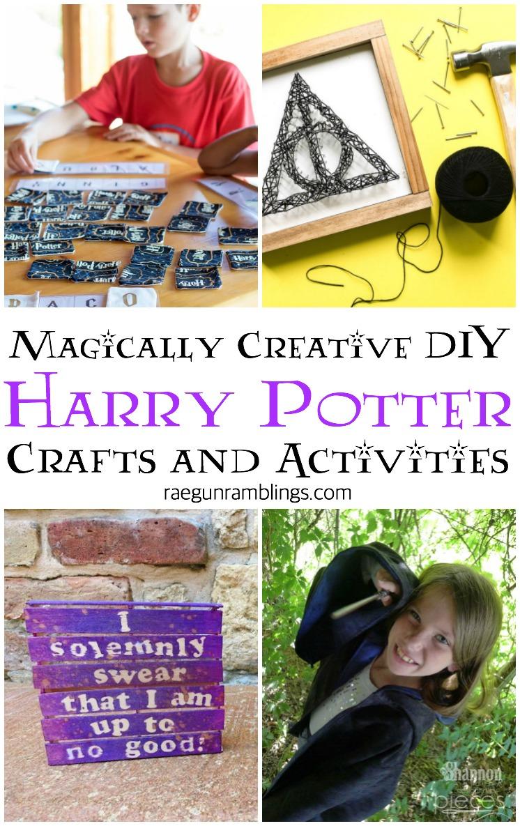 DIY Harry Potter kids activities and crafts