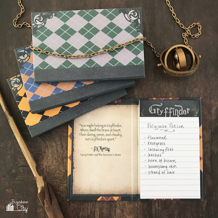 DIY Harry PotterNotepads BugabooCity