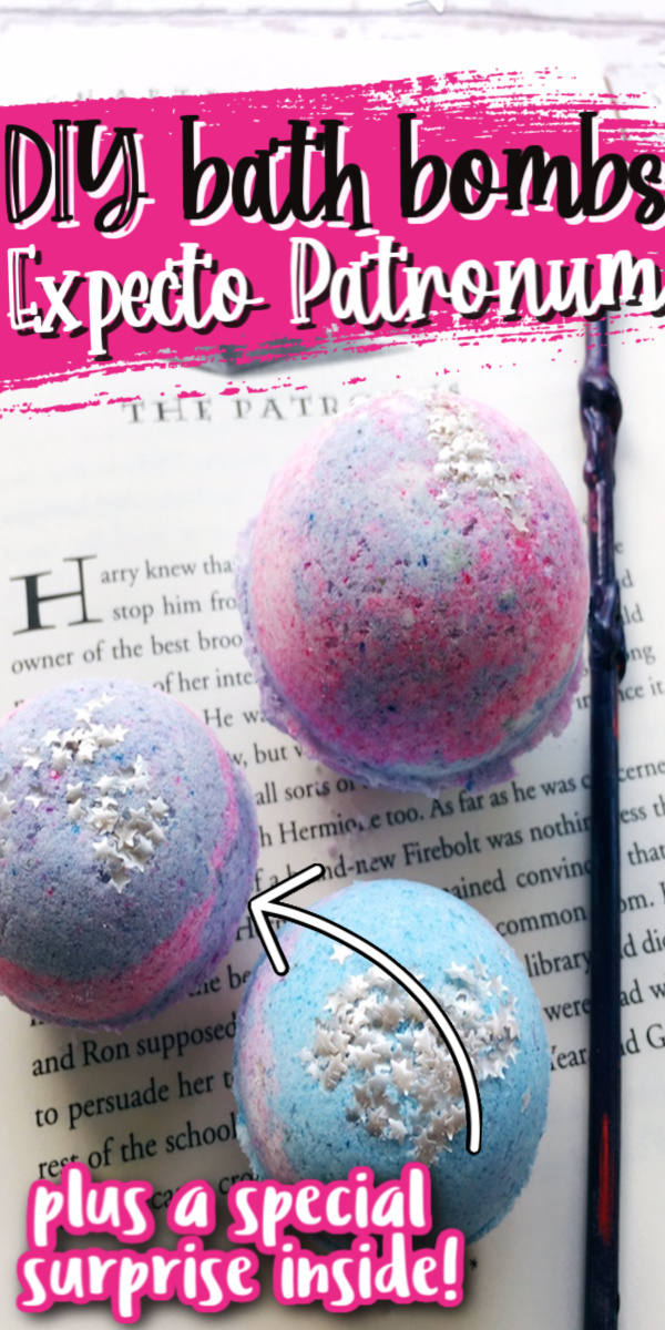 How to make fun DIY Harry Potter patronus inspired bath bombs with a surprise inside. via @raegun