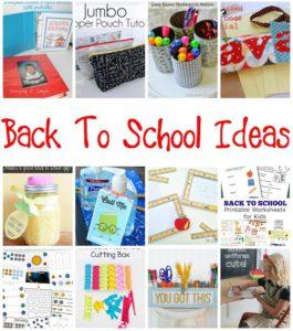 Great Back to school ideas