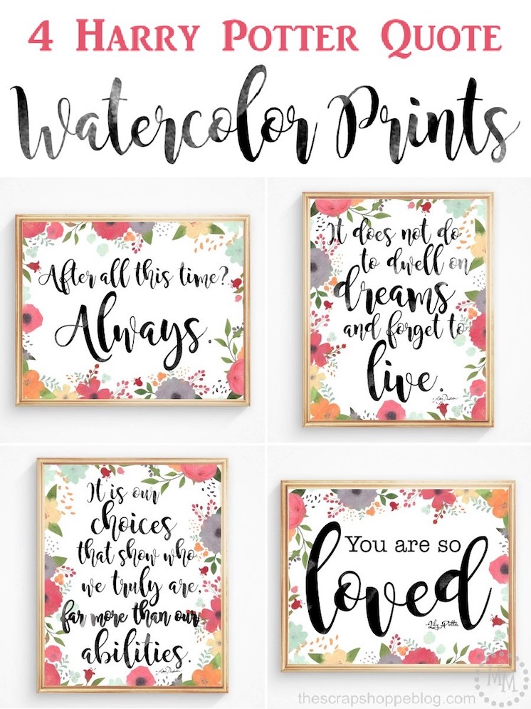 photograph relating to Printable Harry Potter Quotes called Harry-Potter quotation Watercolor-printables - Rae Gun Ramblings