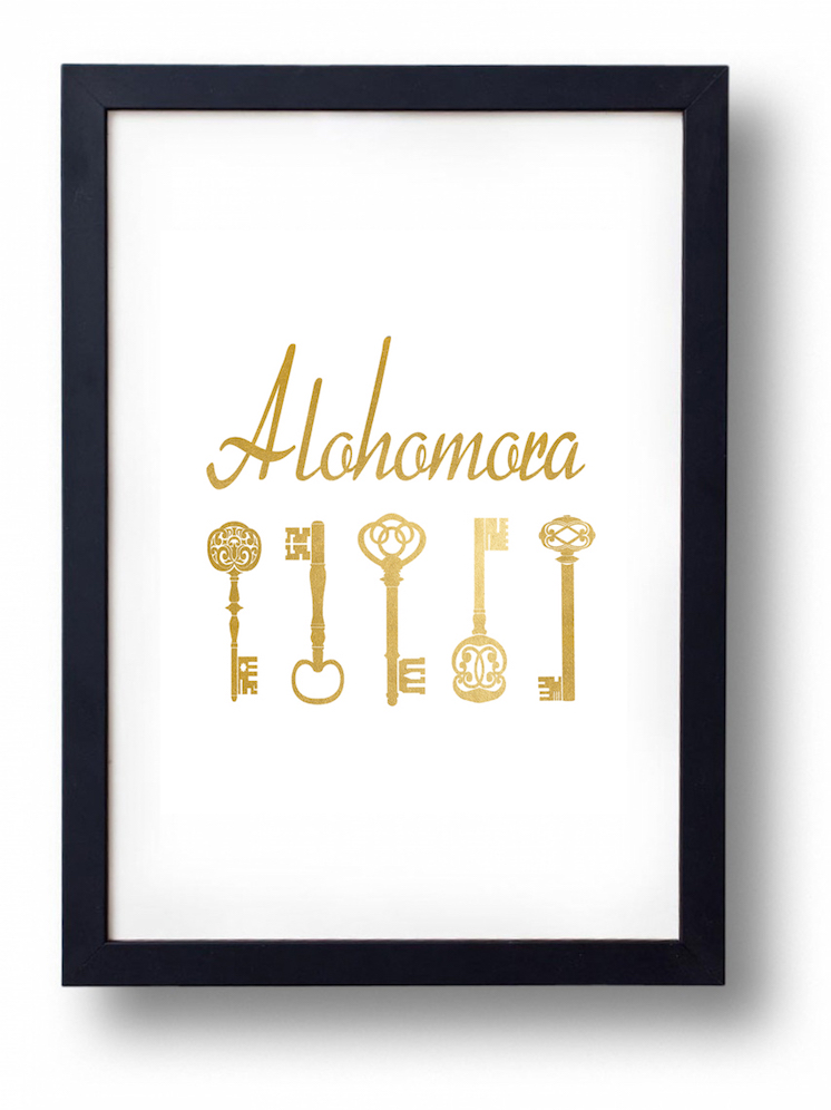alohomora harry potter printable