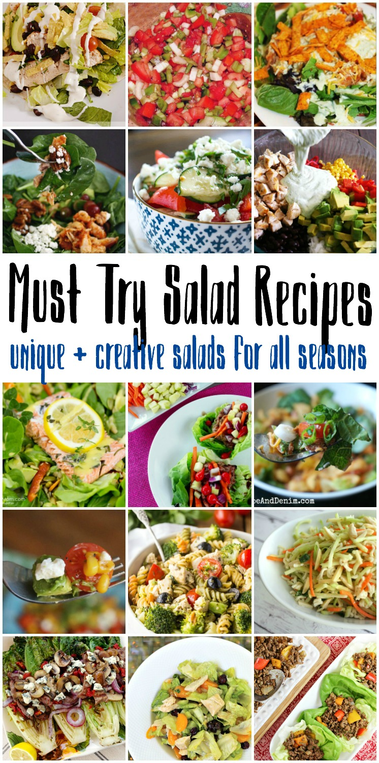 must try salad recipes for summer, spring, winter, and fall