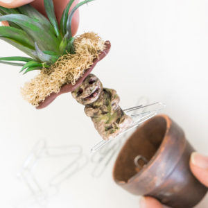 DIY Mandrake-Paper-Clip-Holder-great Harry Potter craft tutorial fun gift idea