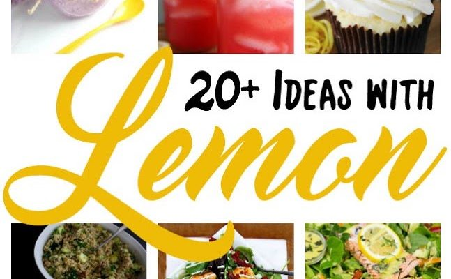 Over 20 Lemon Recipes DIY Crafts and Block Party