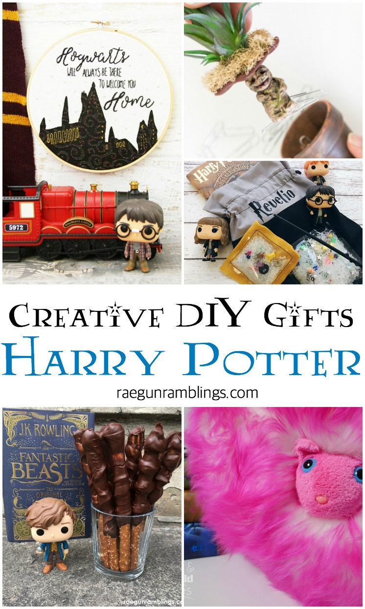 amazing DIY gift ideas for Harry Potter fans. Great for kids and adults