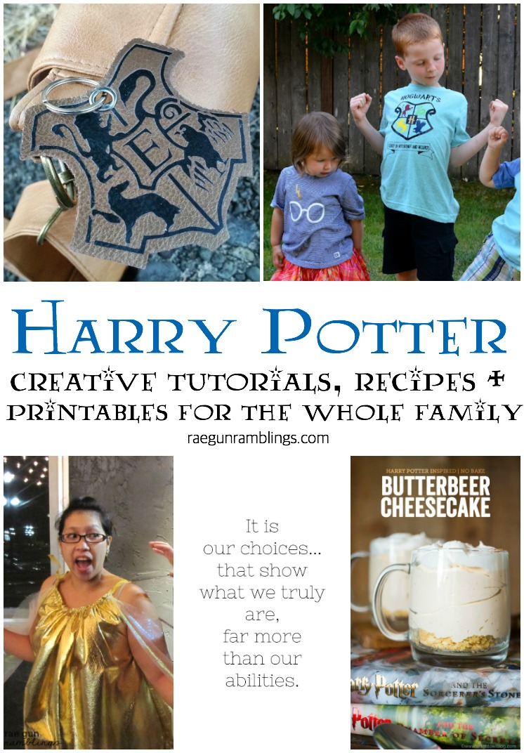 creative tutorials recipes and printables for Harry Potter fans