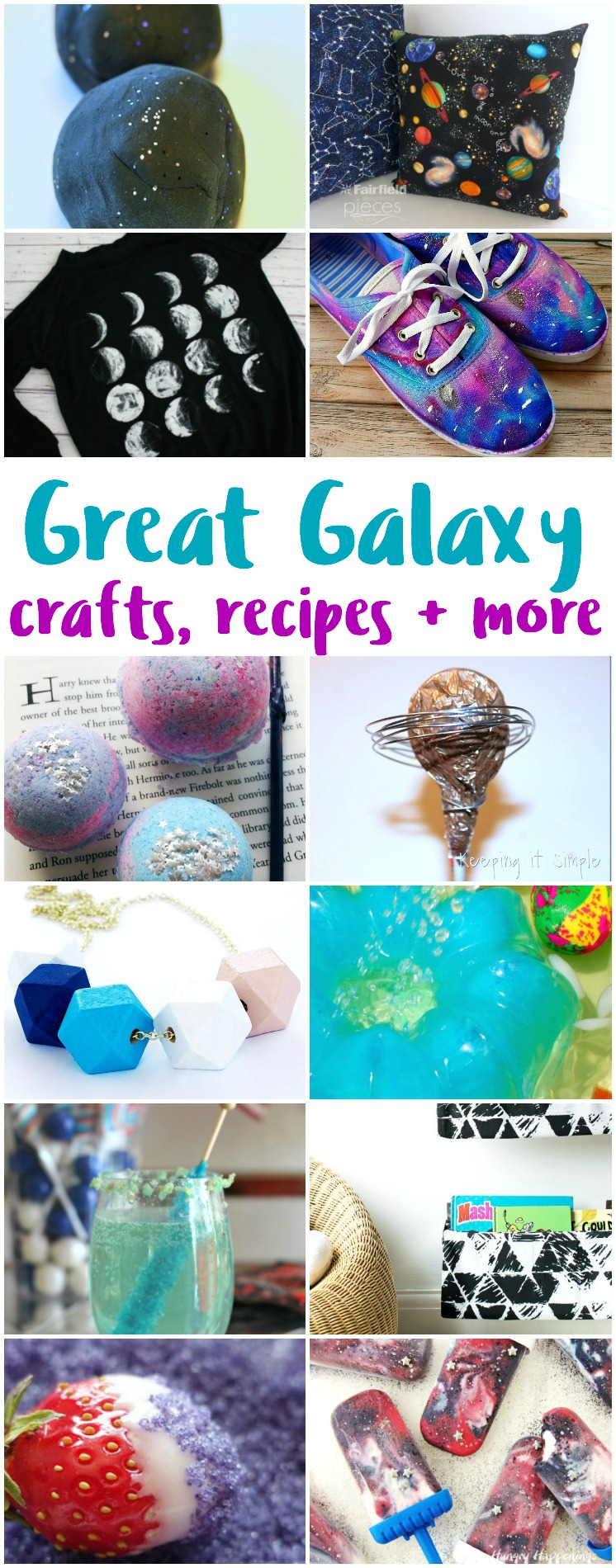 galaxy crafts recipes and other DIY space projects and tutorials