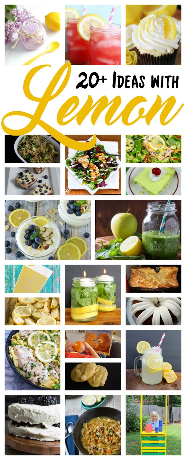 great DIY lemon recipes and craft ideas with tutorials