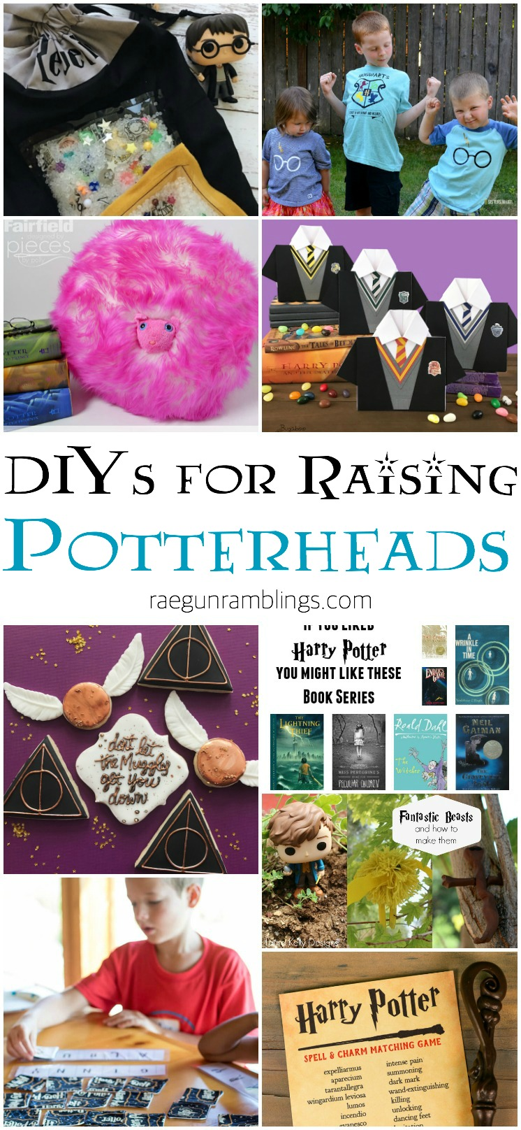 DIYs for raising potterheads. Tutorials and printables for harry potter kids crafts