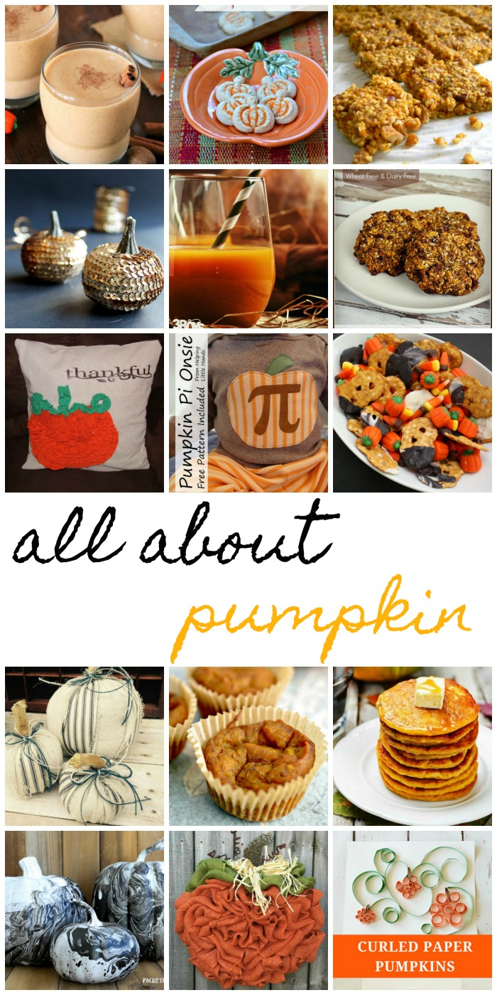 Tons of pumpkin recipes, crafts and home decor idea for all of falls holidays