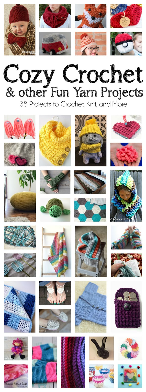 loads of awesome crochet and yarn DIY projects and crafts