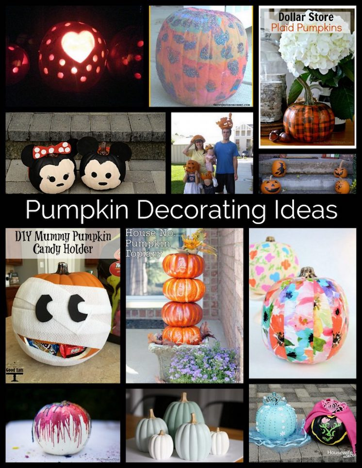 Creative pumpkin decorating ideas for Halloween and thanksgiving