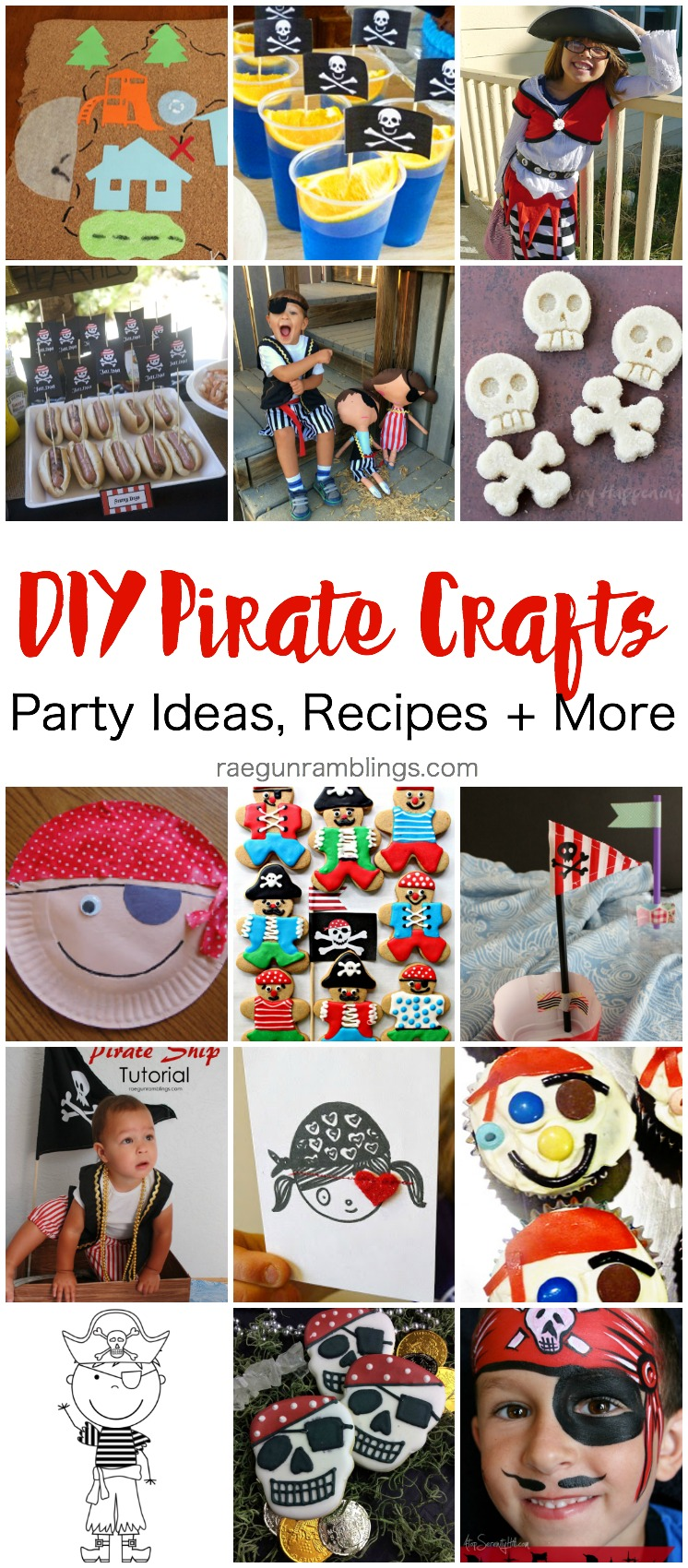 DIY Pirate crafts, party ideas, recipes, kid costumes and more