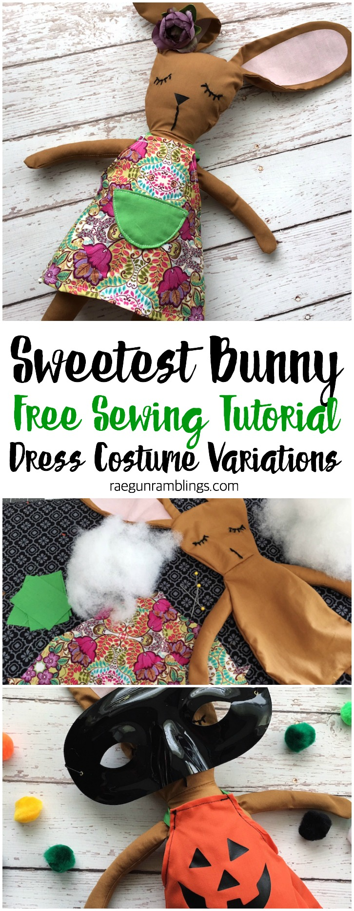 Love this adorable DIY bunny stuffed animal free sewing tutorial for the costume option too. Cricut Maker projects