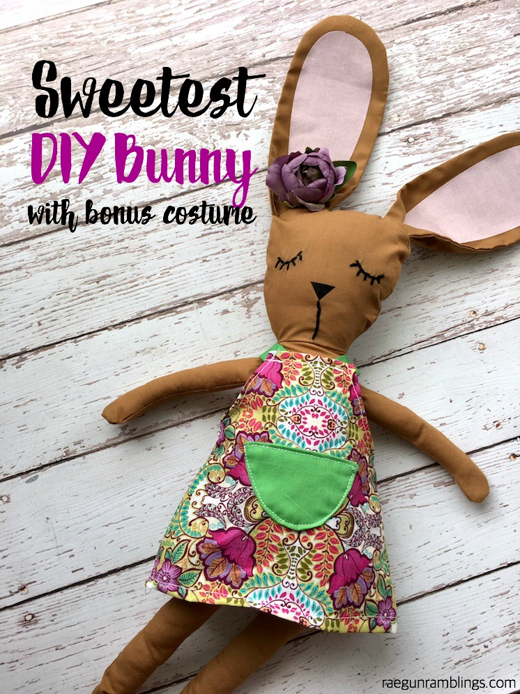 adorable DIY bunny with free sewing pattern for the Cricut Maker-2