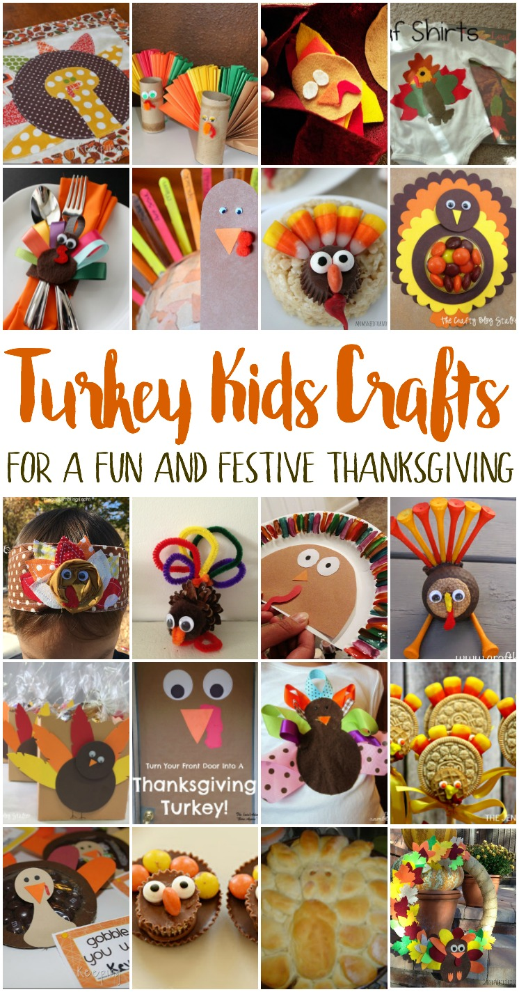 Awesome turkey kids crafts great thanksgiivng diy projects for children