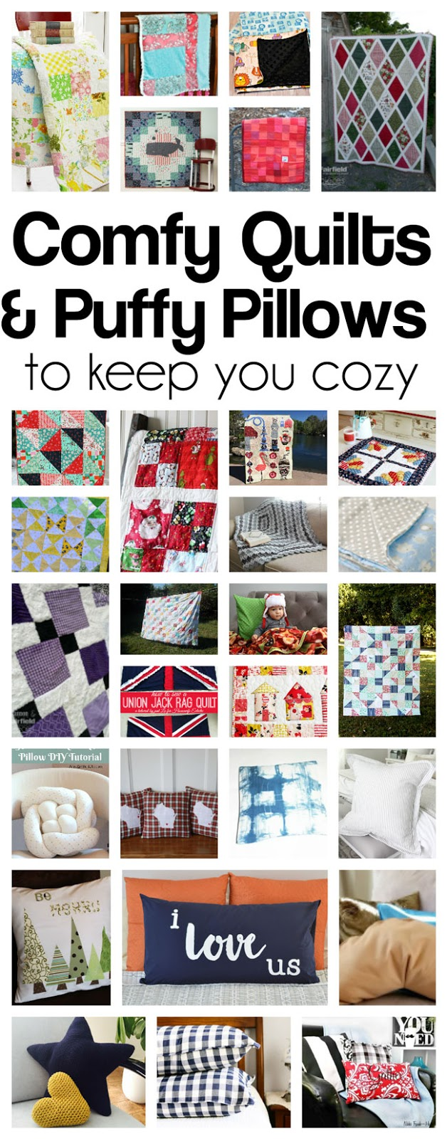DIY Quilts-and-Pillows sewing tutorials