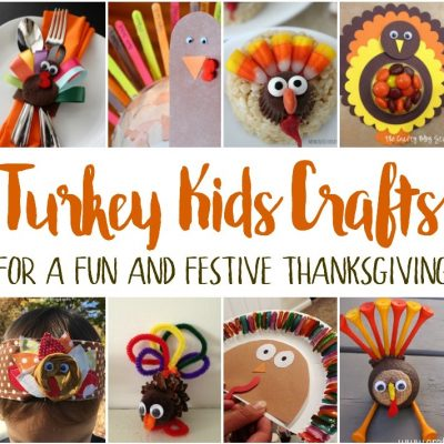 Thanksgiving Turkey Kids Crafts and Block Party