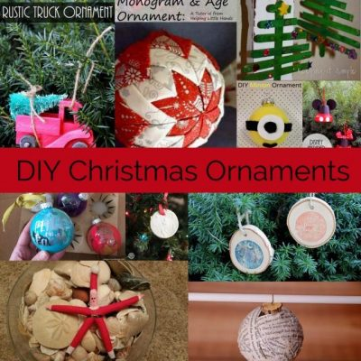 Homemade Christmas Ornaments Tutorial and Block Party