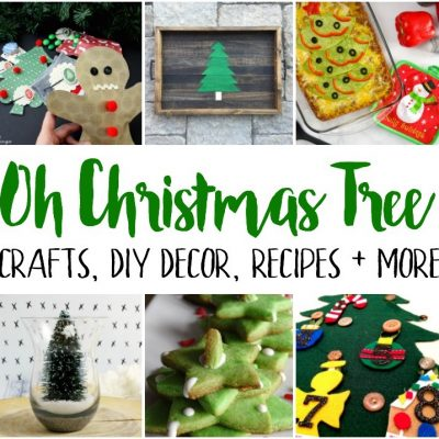 Christmas Tree Crafts Recipes and Block Party
