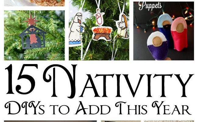 DIY Nativity Ideas and Block Party