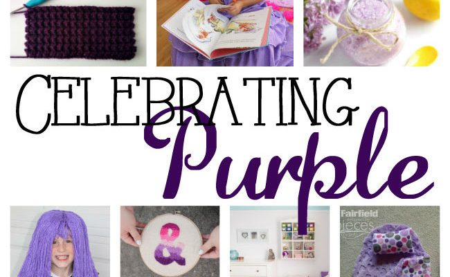 Pantone Ultra Violet Purple Crafts and Block Party