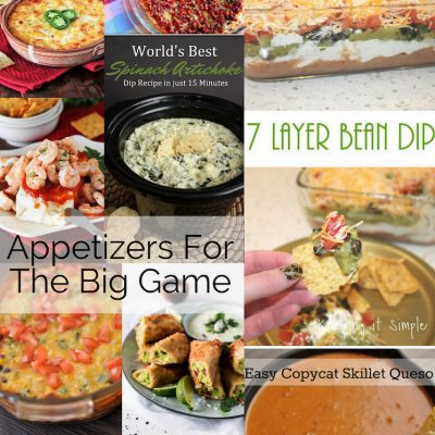 Appetizer Recipes for the Big Game and Block Party
